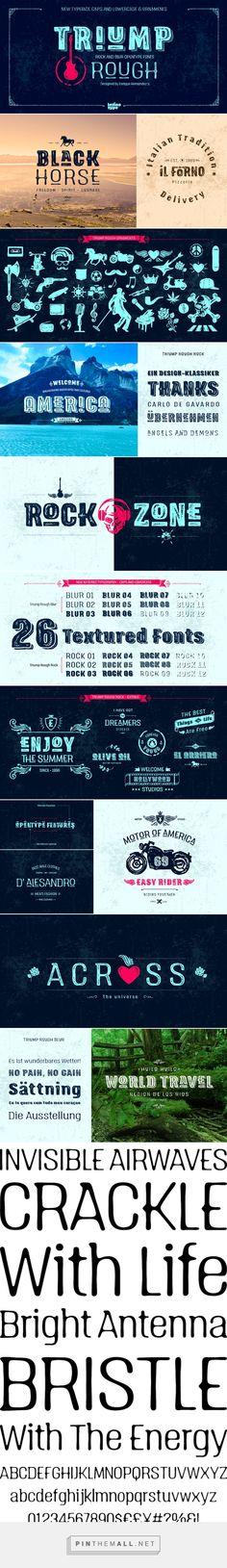 Triump Rough - Desktop Font - YouWorkForThem - created via http://pinthemall.net