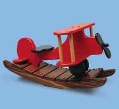 airplane toy pattern free | Rockin Airplane Woodworking Plan