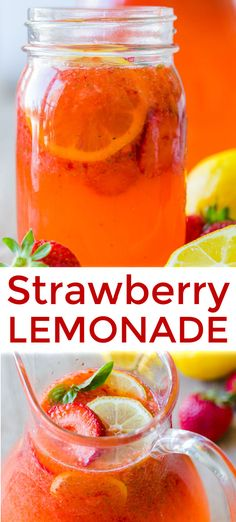 It's easier than you think to make strawberry lemonade and way less expensive to enjoy a fresh strawberry lemonade at home than in a restaurant! Homemade Strawberry Lemonade, Pineapple Lemonade, Strawberry Vodka, Sparkling Strawberry Lemonade, Sparkling Drinks, Cocktail Drinks, Cocktail Recipes, Drink Recipes, Cocktails