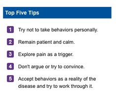 5 Tips for Alzheimer's Caregivers www.alz.org/care