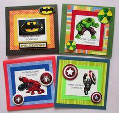 Tarjetas de presentación para cumpleaños tema superheróes Hazte fans en Facebook Crafts by Iris  Instagram @craftsbyiris #Panamá