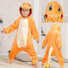 Orange Pocket Monsters Charmander Kid kigurumi onesie costume,high quality and…