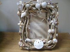 Driftwood Frame With Shells by marasdesigns on Etsy, $46.00
