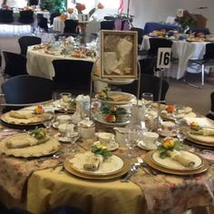 Vintage High Tea Table Setting