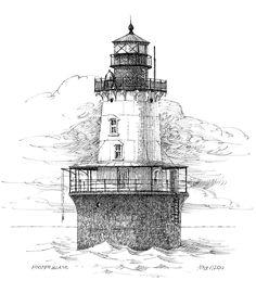 Hooper Island Lighthouse Drawing