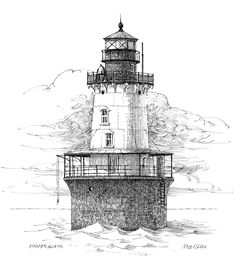 Hooper Island Lighthouse Drawing