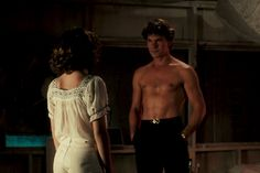 The late Patrick Swayze is best known for his role as Johnny Castle in Dirty Dancing (one of my favorite screen moments). He gained heartthrob status for his sexy dance moves, which allowed him to showcase his bare chest frequently.