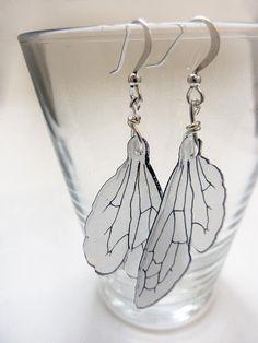 Bumblebee wing dangle earrings by horseflesh on Etsy