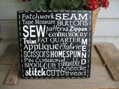 Sewing / Craft Room Wooden Sign Subway Art by OldHouseMercantile, $19.00