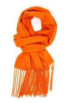 Signature Cashmere Scarf - Hermes Orange