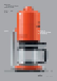 Lundgren+Lundqvist; Poster for Braun 'Systems' Exhibition, 2013.: