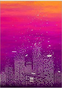 도시 하늘