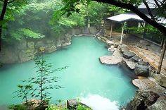 KurokawaOnsen A Cozy Spa Resort Surrounded by Beautiful Nature. Hot Springs Japan, Japanese Hot Springs, Kurokawa Onsen, Traditional Baths, Kyushu, Rooftop, Places To Visit, Outdoor, Japanese Style