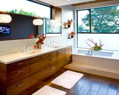 Bathroom Design, Pictures, Remodel, Decor and Ideas - page 2  Like the floor and cabinets