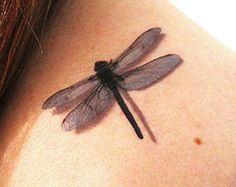 I would like this with some blue/purple color 3D Dragonfly Tattoo