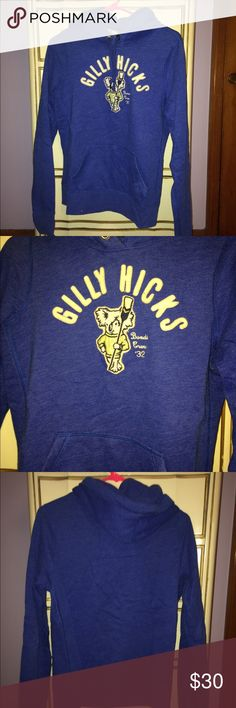 Gilly Hicks sweatshirt Gilly Hicks, royal blue hoodie. Size large, fits true to size. New without tags, never worn. Gilly Hicks Tops Sweatshirts & Hoodies
