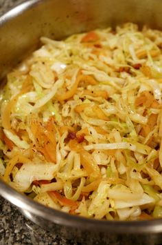 Apple and Onion Braised Cabbage with Bacon - LindySez