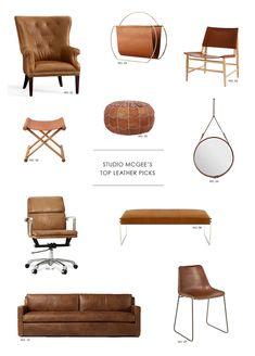 Studio McGee's Top Leather Picks