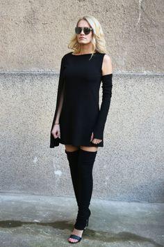 76b13fbdad729 Cape Dress  One sleeve dress Cape back dress Oversized Top Extravagant  Tunic Mini dress Bordered hem