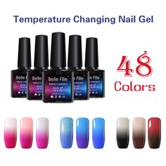 Nails Art & Tools Nail Gel Verntion Change Color Uv F Led Nail Gel Lacquer Semi Temperature Change Shiny Rainbow Thermal Glitter Change Chameleon Kit Keep You Fit All The Time