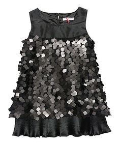 Look at this Mini Treasure Kids Black Indie Sequin Dress - Toddler & Girls on today! Toddler Girl Dresses, Little Girl Dresses, Nice Dresses, Girls Dresses, Toddler Girls, Little Girl Fashionista, Stylish Baby Girls, Girly Girls, Baby Couture
