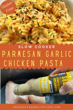 Slow Cooker Recipes, Crockpot Recipes, Chicken Recipes, Cooking Recipes, Healthy Recipes, Chicken Parmesan Pasta, Easy 5, Crock Pot Cooking, Creamy Sauce