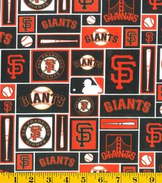 San Francisco Giants MLB Patch Cotton Fabric