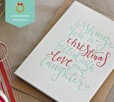 A Letterpress Christmas 2013 : Bespoke Press - Paper Crave