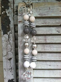 Our New Gray Skies Chunky Necklace by OhSoGlamCouture on Etsy, $18.00