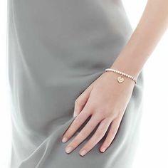 Return to Tiffany® bead bracelet in silver and RUBEDO® metal, medium.