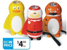 Kids LED Wind-Up Torches $4.98