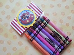 6 little Einsteins crayons party favor Elmo ladybug by bellecaps, $15.00