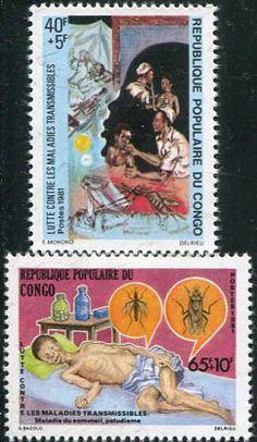 Francobolli . Lotta contro la malaria - Malaria on Stamps Congo 1981