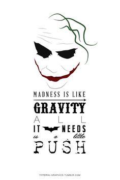 charming life pattern: joker - quote - the dark knight - madness ...