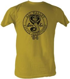 74aa9f61 This licensed Karate Kid shirt features the Cobra Kai logo and says All  Valley Karate Championship