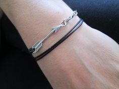 Leather Bracelet, UNISEX, Boho wrap bracelet, Arrow charm, Personalized Cuff bracelet, Men's bracelet by TurquoiseJewel on Etsy