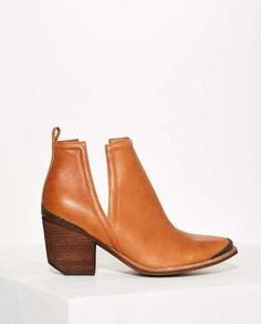 Jeffrey Campbell Women's Cromwell Leather Western Bootie - Tan Size 10 #JeffreyCampbell #AnkleBoots