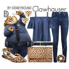 Clawhauser by leslieakay // Disney Character Outfits, Cute Disney Outfits, Disney Themed Outfits, Character Inspired Outfits, Disney Bound Outfits, Cute Outfits, Disney Clothes, Disney Characters, Disney Proposal