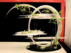 Designed by China's, Zhixiang Ni Ikebana Arrangements, Modern Flower Arrangements, Hanging Flowers, Flower Vases, Flower Show, Flower Art, Deco Floral, Floral Design, Flower Structure