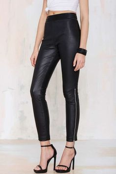 Nasty Gal Against the Machine Leather Skinny Pants $300 #SummerLeather