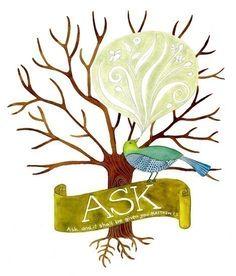 Ask Believe Receive Print set by Geninne on Etsy, $65.00