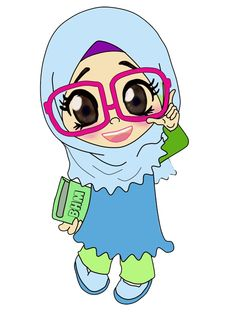 Cartoon Kids Girl Cartoon Doodle Girl Hijab Cartoon Cartoon Sketches Muslim