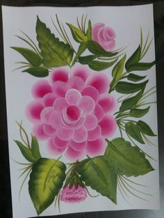 One stroke Painting - Camellia