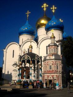 Assumption Cathedral at Trinity Lavra of St. Sergius, Sergiyev Posad, Moscow Oblast_ Russia