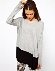 Just Female Blocked Jersey Top