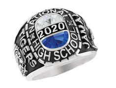 Odyssey Class Ring is offered in several metals and with your choice of birthstone.