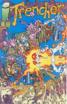 Trencher. This is the ugly Keith Giffen new artwork. It looked like scribbling.-L