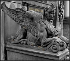 Mythical beast, Alter Friedhof Cemetery, Darmstadt Germany