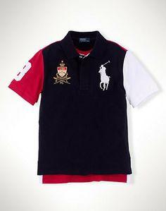 Ralph Lauren Short Sleeved USA Big Pony Shirts Black