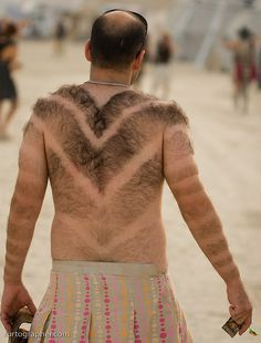 oh funny burning man hairy cuts Burning Man, Male Waxing, Youre Doing It Wrong, Crazy People, Crazy Things, Real People, Bad Hair Day, Sweater Fashion, Man Fashion